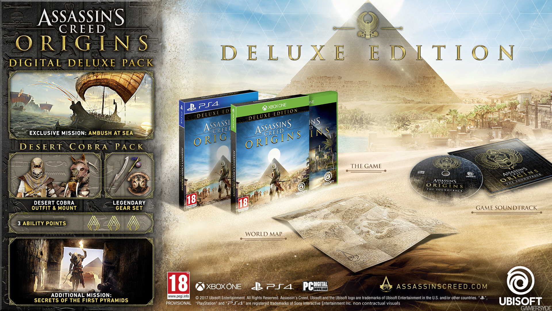 Assassin's Creed Origins: Game Editions